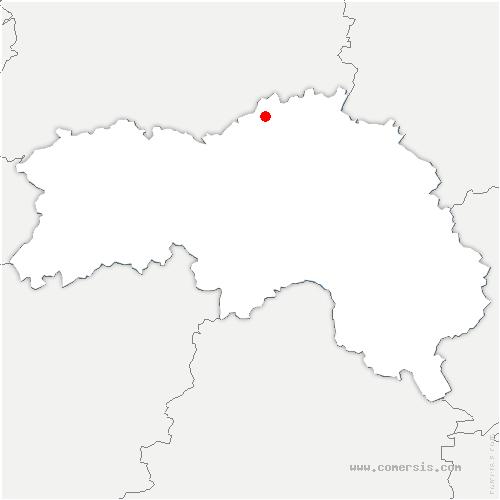 carte de localisation de Saint-Gervais-des-Sablons