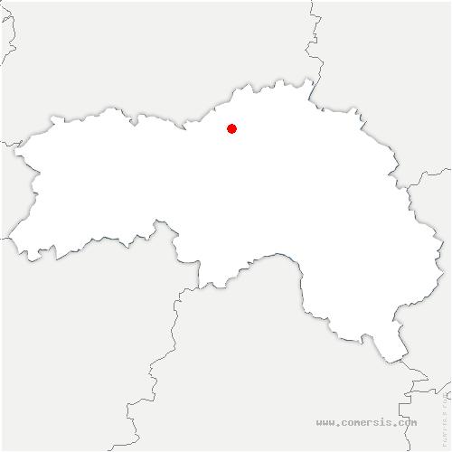 carte de localisation de Saint-Lambert-sur-Dive