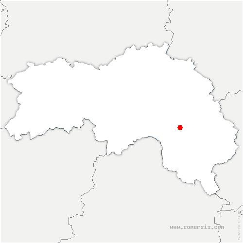 carte de localisation de Saint-Langis-lès-Mortagne