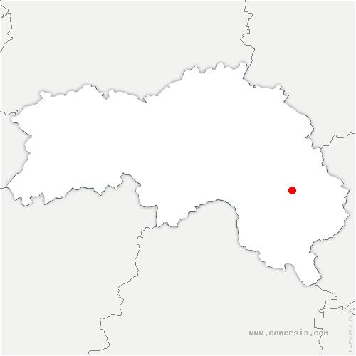 carte de localisation de Saint-Mard-de-Réno