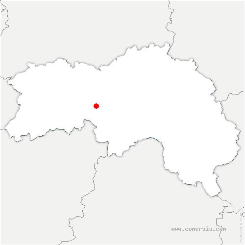 carte de localisation de Saint-Martin-l'Aiguillon