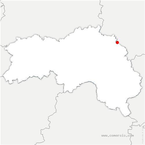 carte de localisation de Saint-Nicolas-de-Sommaire