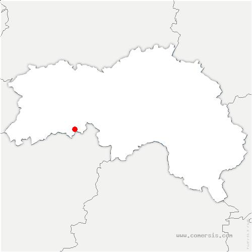 carte de localisation de Saint-Patrice-du-Désert