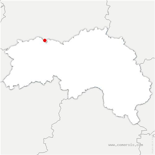carte de localisation de Saint-Philbert-sur-Orne