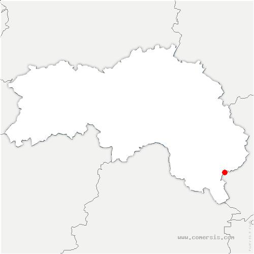 carte de localisation de Saint-Pierre-la-Bruyère