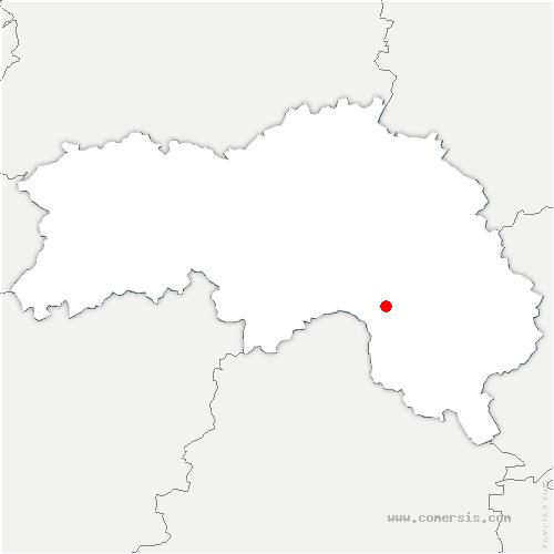 carte de localisation de Saint-Quentin-de-Blavou