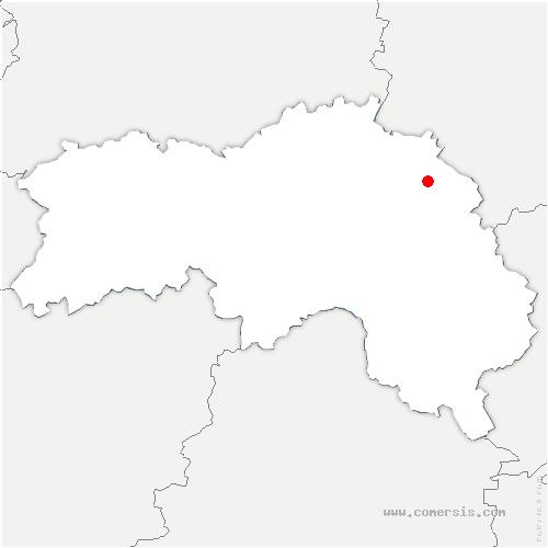 carte de localisation de Saint-Symphorien-des-Bruyères