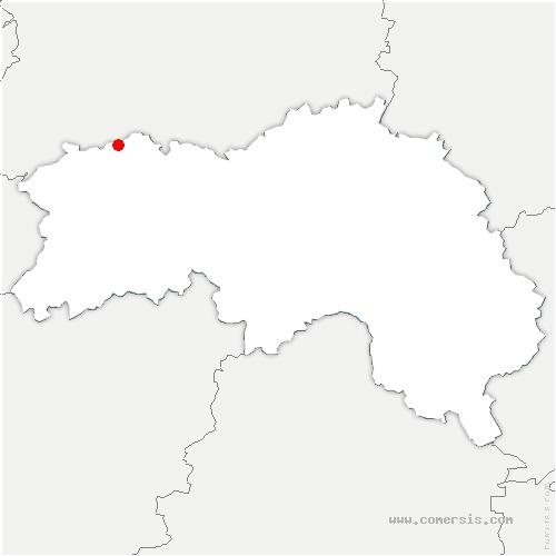 carte de localisation de Sainte-Honorine-la-Chardonne