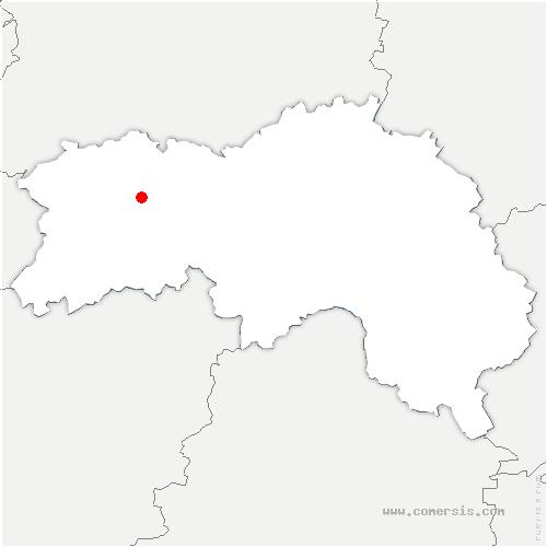 carte de localisation de Sainte-Opportune