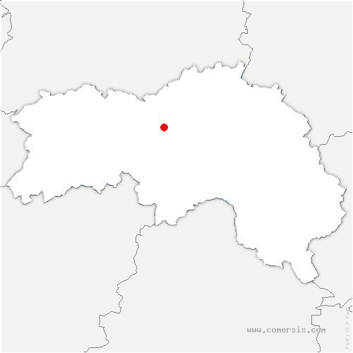 carte de localisation de Sarceaux