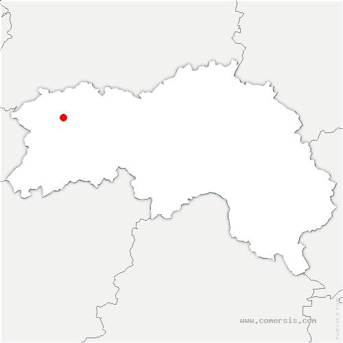 carte de localisation de Selle-la-Forge