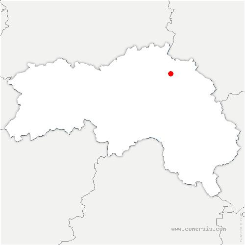 carte de localisation de Touquettes