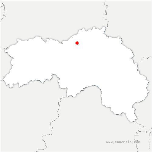carte de localisation de Tournai-sur-Dive