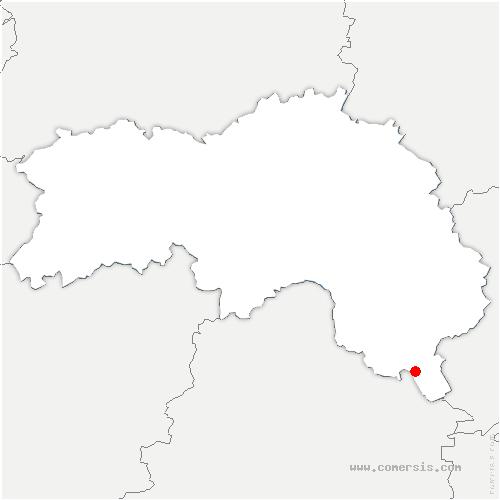 carte de localisation de Val-au-Perche