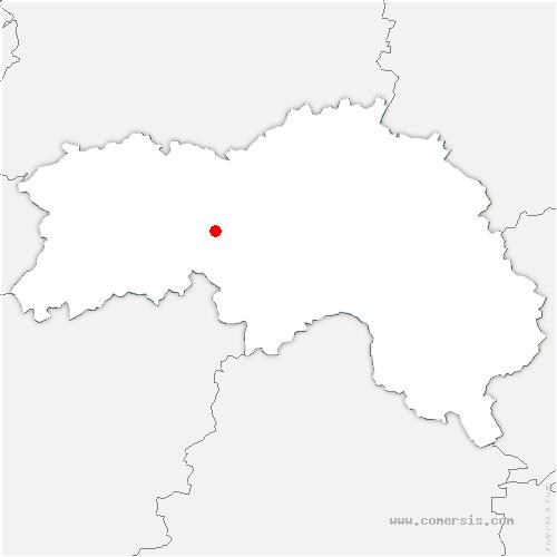 carte de localisation de Vieux-Pont