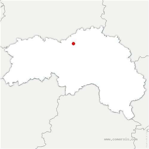 carte de localisation de Villedieu-lès-Bailleul