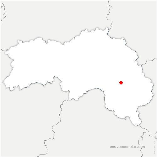 carte de localisation de Villiers-sous-Mortagne