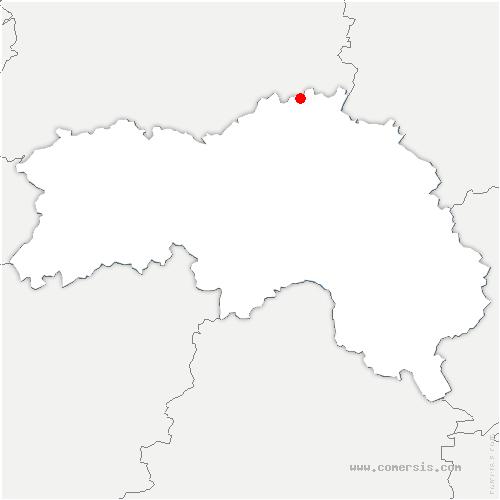 carte de localisation de Vimoutiers