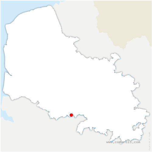 carte de localisation de Bonnières