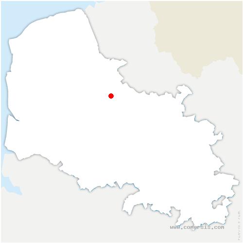 carte de localisation de Enquin-lez-Guinegatte