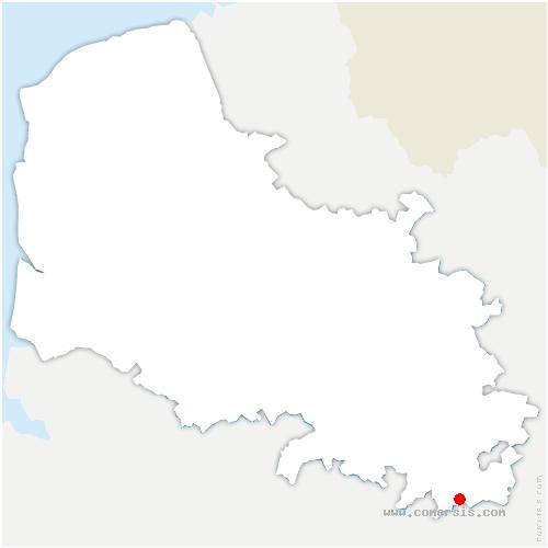carte de localisation de Rocquigny