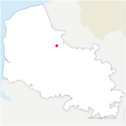 carte de localisation de Saint-Augustin