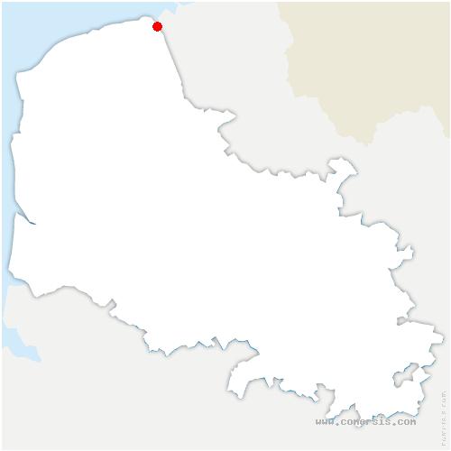carte de localisation de Saint-Folquin