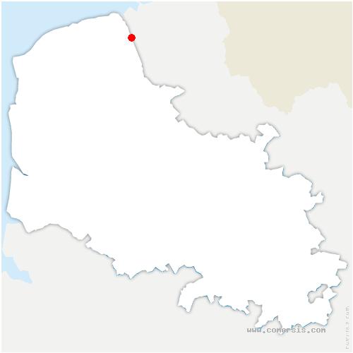 carte de localisation de Sainte-Marie-Kerque