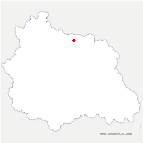 carte de localisation de Aigueperse