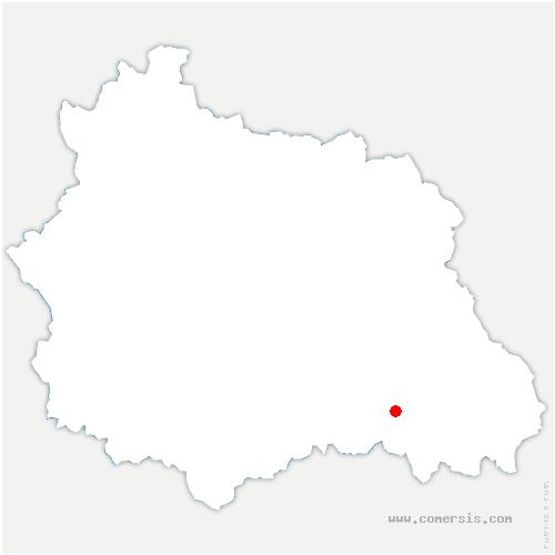 carte de localisation de Aix-la-Fayette