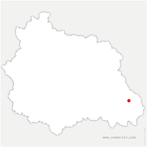 carte de localisation de Ambert