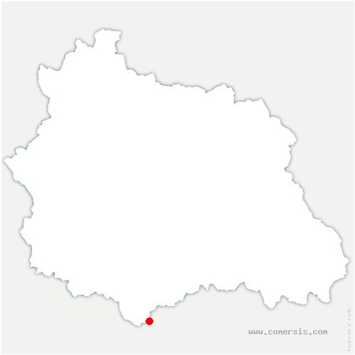 carte de localisation de Anzat-le-Luguet