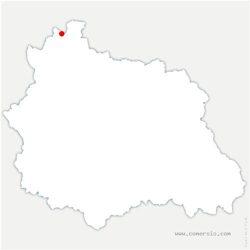 carte de localisation de Ars-les-Favets