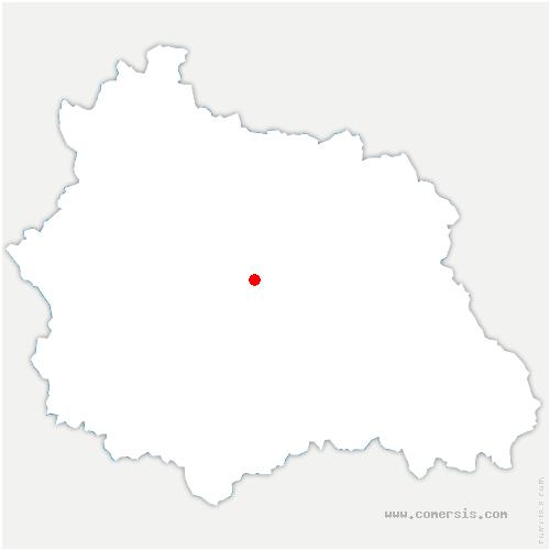 carte de localisation de Aubière