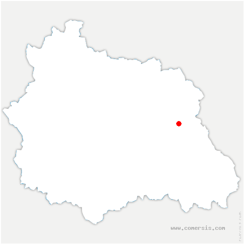 carte de localisation de Aubusson-d'Auvergne