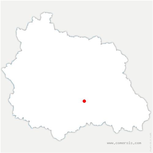 carte de localisation de Aulhat-Flat