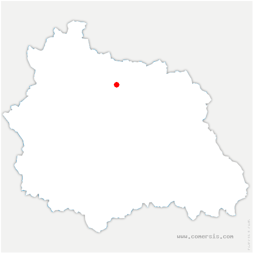 carte de localisation de Beauregard-Vendon