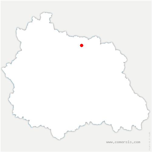 carte de localisation de Bussières-et-Pruns