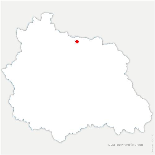 carte de localisation de Chaptuzat