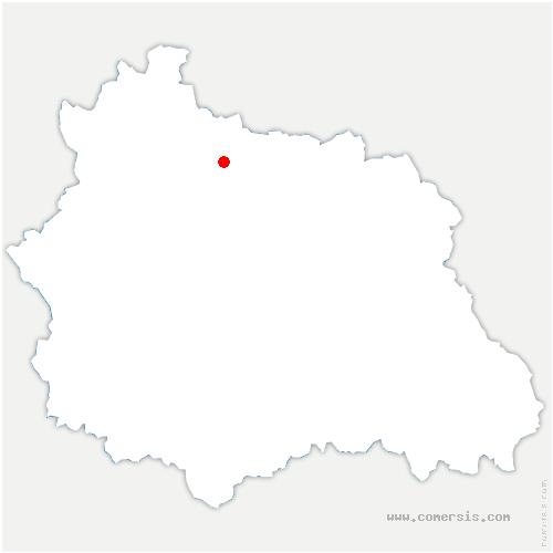 carte de localisation de Charbonnières-les-Vieilles