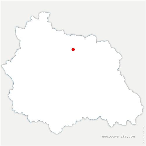 carte de localisation de Cheix