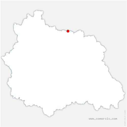 carte de localisation de Effiat