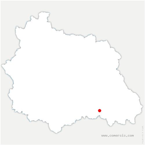 carte de localisation de Le Vernet-Chaméane