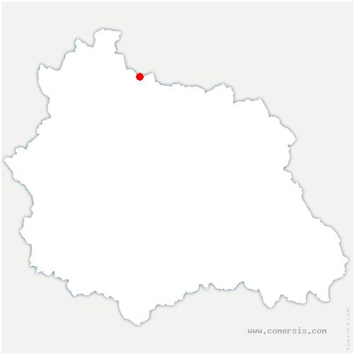 carte de localisation de Marcillat