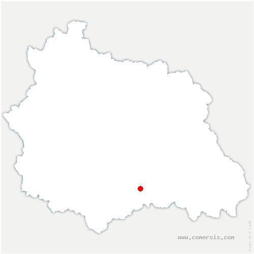 carte de localisation de Nonette-Orsonnette