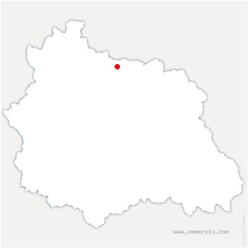 carte de localisation de Saint-Agoulin