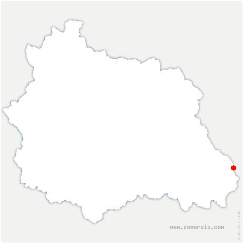 carte de localisation de Saint-Anthème