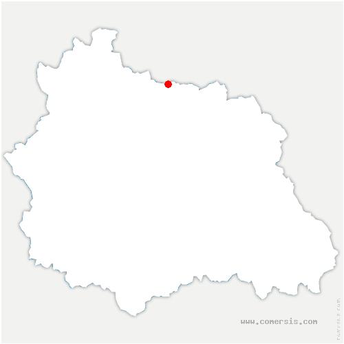 carte de localisation de Saint-Genès-du-Retz