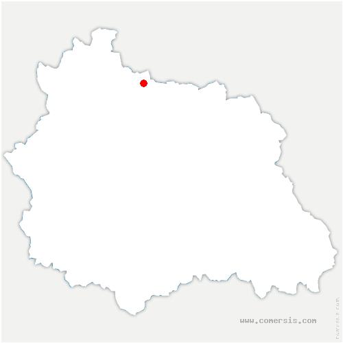 carte de localisation de Saint-Hilaire-la-Croix