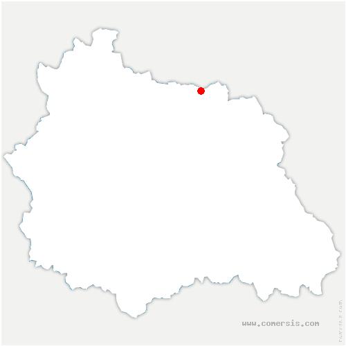 carte de localisation de Saint-Sylvestre-Pragoulin